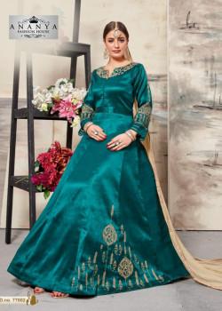 Dazzling Turquiose Silk Salwar kameez