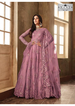 Luscious Lavender Net- Satin Salwar kameez