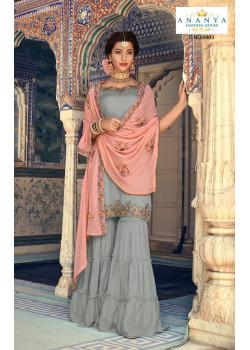 Divine Grey Georgette- Santoon   Salwar kameez