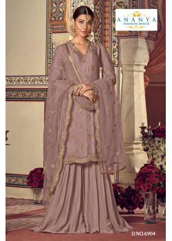 Gorgeous Lavender Georgette- Santoon   Salwar kameez