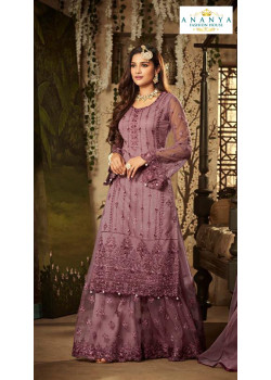Classic Lavender Net- Santoon Salwar kameez