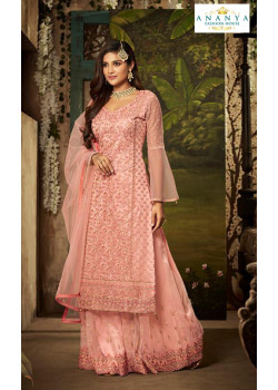 Trendy Light Pink Net- Santoon Salwar kameez