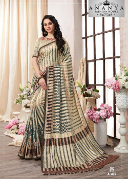 Flamboyant Multicolor Kanjeevaram Silk Saree with Multicolor Blouse