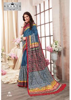 Luscious Multicolor Kanjeevaram Silk Saree with Multicolor Blouse
