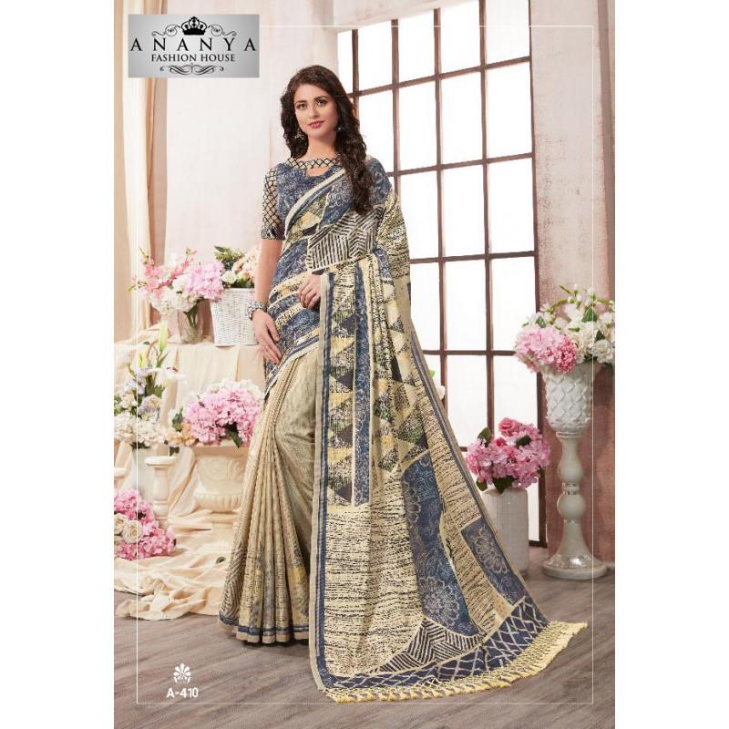 Melodic Multicolor Kanjeevaram Silk Saree with Multicolor Blouse
