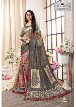 Trendy Multicolor Kanjeevaram Silk Saree with Multicolor Blouse