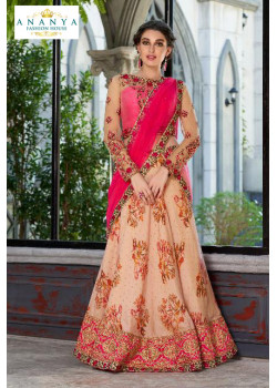 Incredible Light Pink color Silk Designer Lehenga