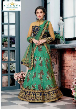 Melodic Sea Green color Silk Designer Lehenga