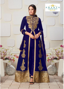 Melodic Royal Blue Faux Georgette- Santoon Salwar kameez