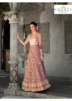 Exotic Lavender color Organza Silk Designer Lehenga