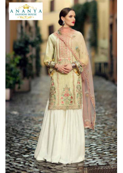 Dazzling Off White Pure Cambric Salwar kameez