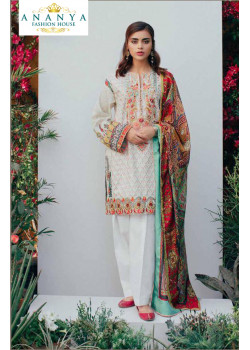 Divine White Pure Cambric Salwar kameez