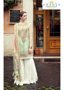 Gorgeous Pastel Green Pure Cambric Salwar kameez