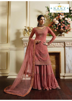 Divine Pink Pure Satin Salwar kameez