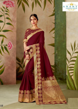 Plushy Wine Silk Saree with Wine Blouse