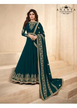 Exotic Turquoise Georgette Salwar kameez