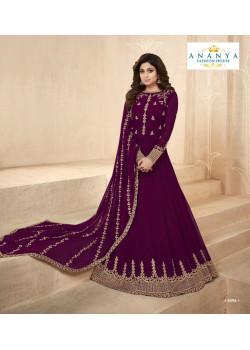 Incredible Purple Georgette Salwar kameez