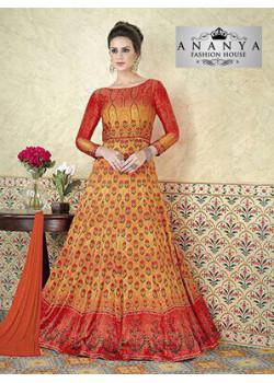 Incredible Multicolor Satin- Santoon Salwar kameez