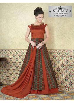 Magnificient Multicolor Tussar Silk- Taffeta Silk Salwar kameez