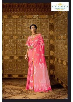 Exotic Pink Silk Saree with Pink Blouse