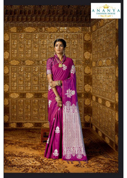 Magnificient Purple   Silk Saree with Purple   Blouse