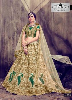 Enigmatic Cream color Silk Designer Lehenga