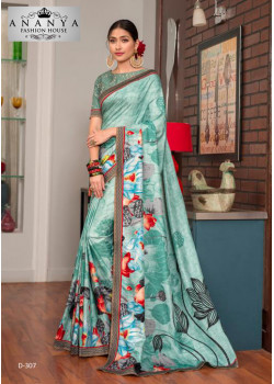Melodic Light Blue Silk- Jacquard Saree with Pastel Blue Blouse