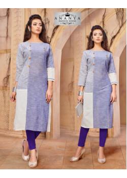 Flamboyant Multy Khadi Cotton Readymade Kurti