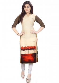 Gorgeous Multicolor American Crepe Readymade Kurti