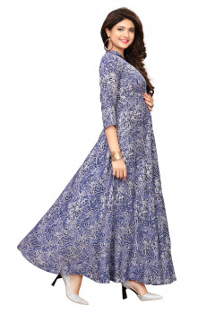 Gorgeous Blue  Heavy Rayon Readymade Kurti