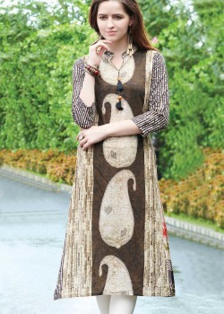 Trendy Multy Color Semi Rayon Readymade Kurti