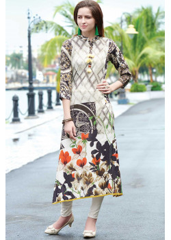 Plushy Multy Color Semi Rayon Readymade Kurti