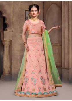 Plushy Pink color Silk Designer Lehenga
