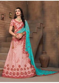 Melodic Pink color Silk Designer Lehenga