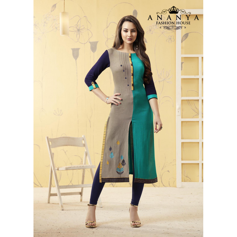 Gorgeous Multy Rayon Readymade Kurti