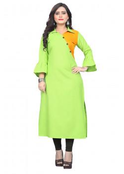 Adorable Green Rubi Cotton Readymade Kurti