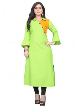 Adorable Green Rubi Cotton Readymade Kurti