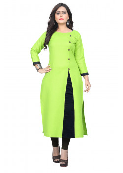 Melodic Green Rubi Cotton Readymade Kurti
