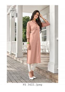 Exotic Pastel Pink Cotton Readymade Kurti
