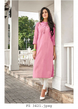 Gorgeous Pink Cotton Readymade Kurti